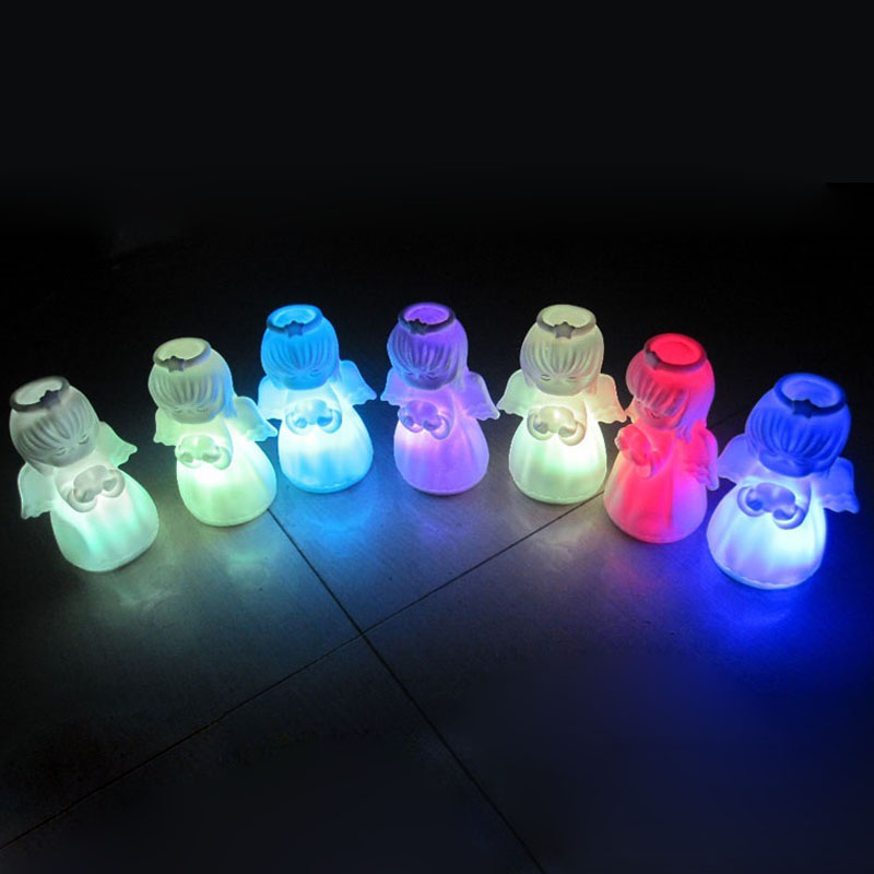 100pcs Mini Cute Colorful LED Angel Night Lights Lamp Novelty Gifts for Home Party Decoration Christmas Gift For Kids ZA5286