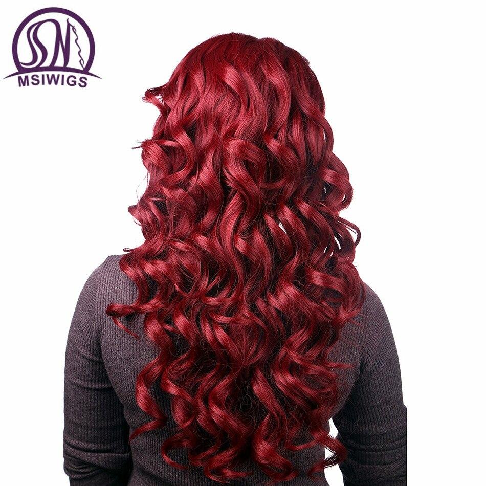 WSIWIGS μακρύ μαύρο σγουρό περούκες - Συνθετικά μαλλιά - Φωτογραφία 6
