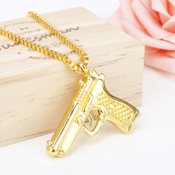 Pistol Pendants Necklace 1