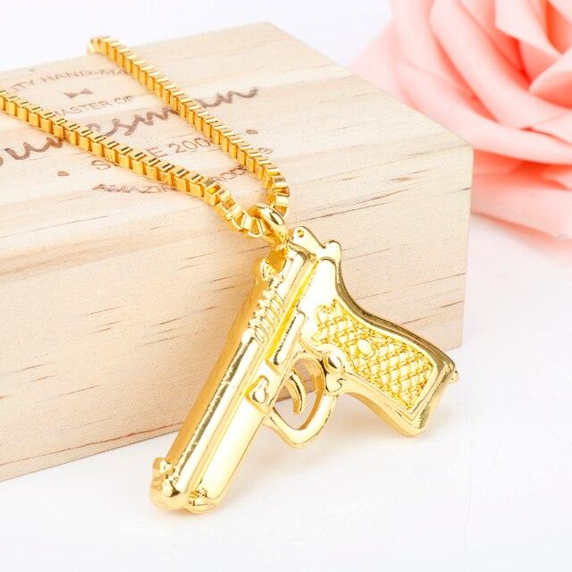 Pistol Pendants Necklace 2