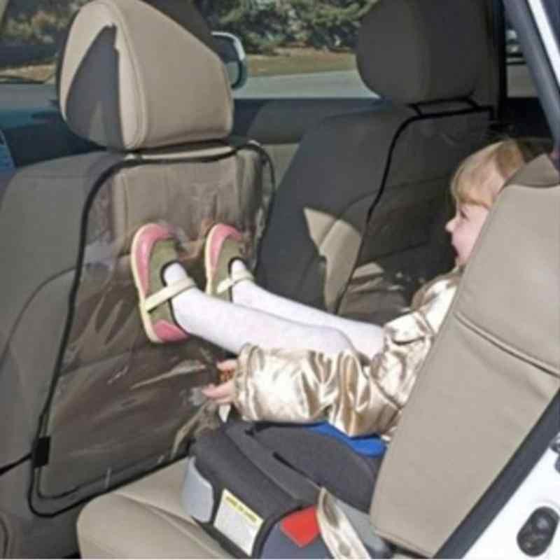 Crianças Assento Auto Car Voltar Protector Capa Para Crianças Pontapé Mat Mud Cleaner Tampa Encosto Do Bebê À Prova D' Água Transparente