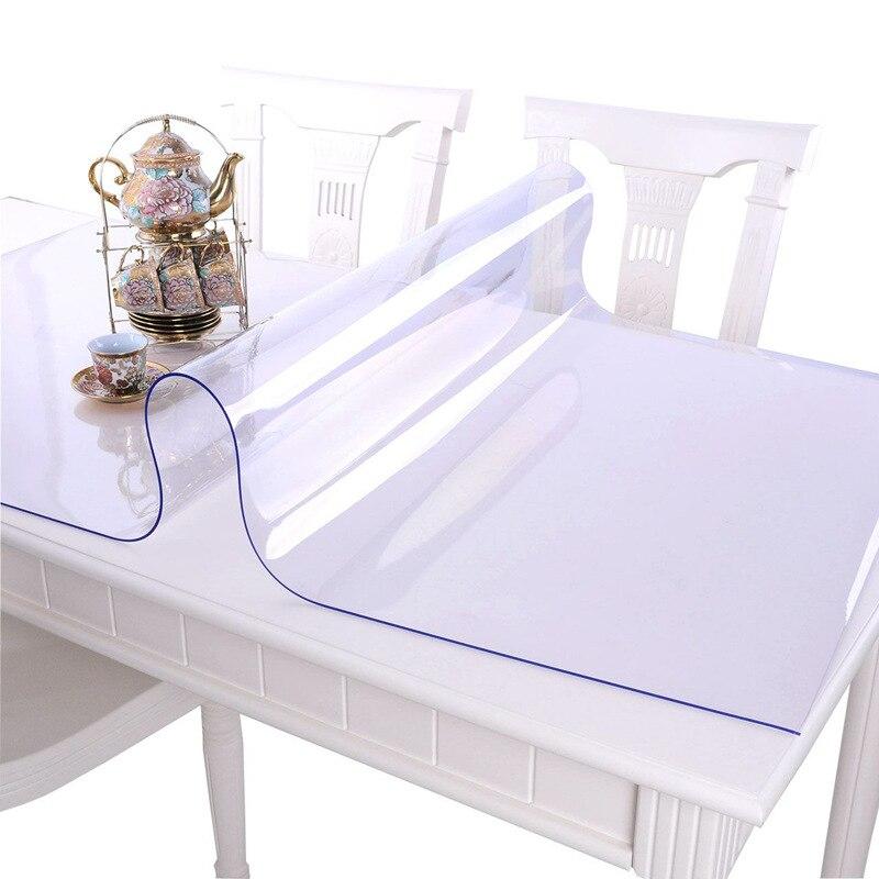 Toalha de mesa de mesa de pano de mesa de vidro macio 1.0mm toalha de mesa de mesa de toalha de mesa de mesa transparente de pvc à prova dwaterproof água