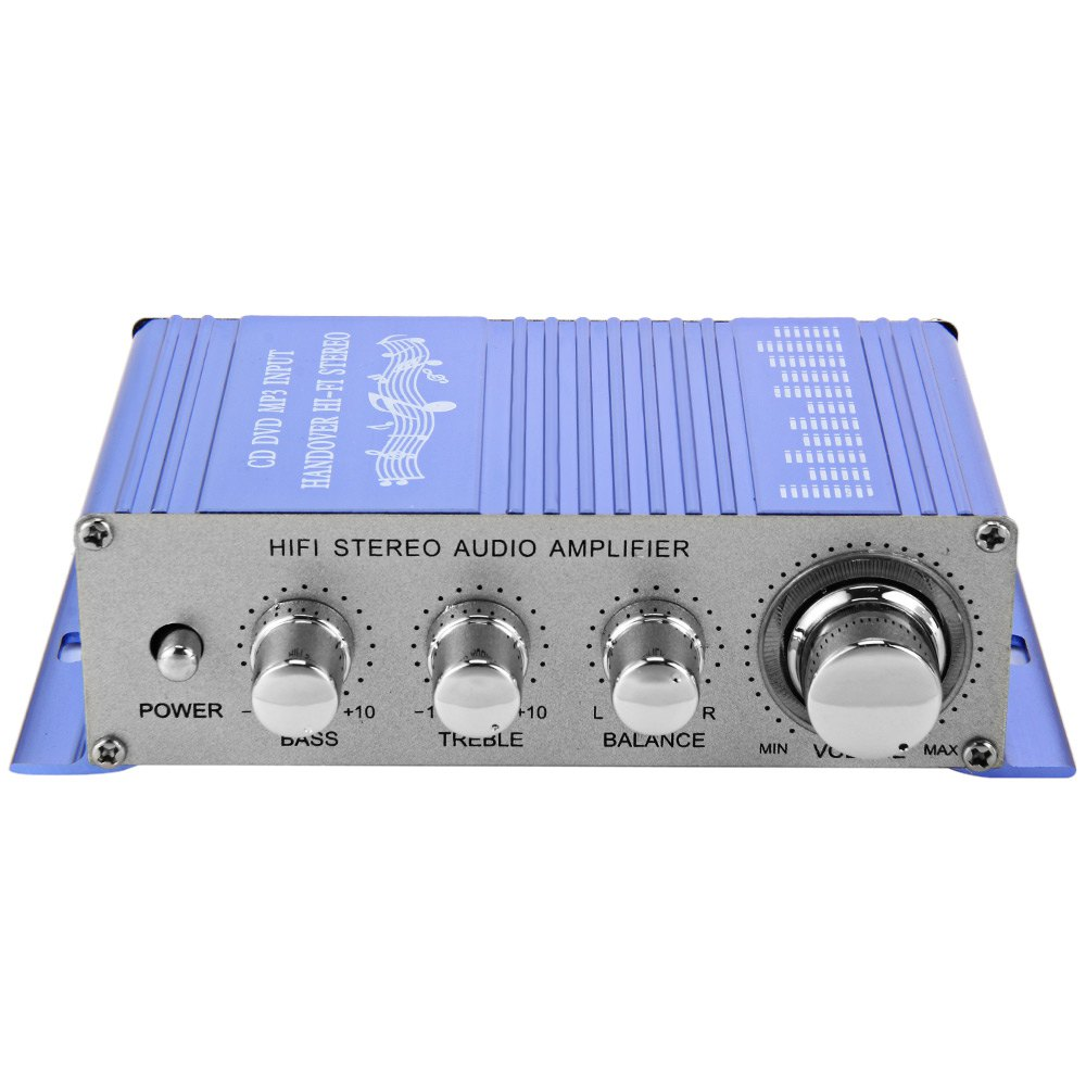 Hi Fi 12v Mini Auto Car Stereo Amplifier 2 Channel Audio Amplifier Support Cd Dvd Mp3 Input