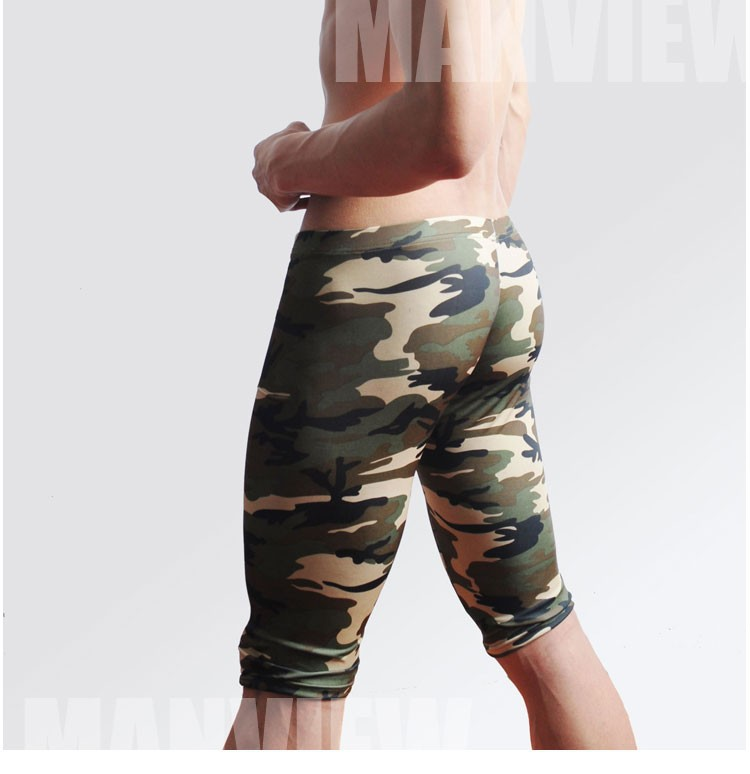 camouflage mens cargo pants fashion sexy camouflage dress camouflage Male Middle Pants Elastic Waist Design M02-2 19