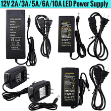 AC 100V - 240V to DC 12V 2A 3A 5A 6A 10A lighting transformers Power Supply Adapter Converter Charger For LED Strip light D25 larzi ac 100v 240v to dc 12v 1a 2a 3a 5a 6a lighting transformers power supply adapter converter charger for led strip light