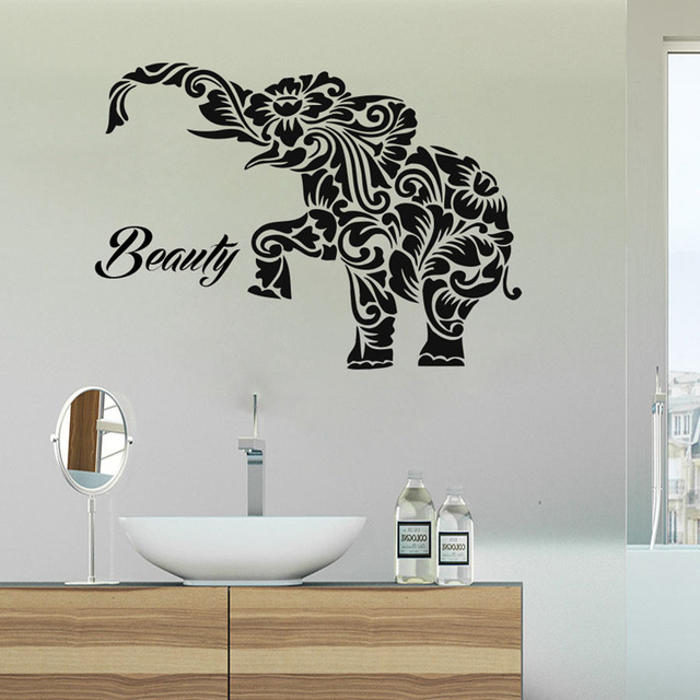 Elephant Buddha Quotes Namaste Wall Decals Yoga Mandala Wall Stickers Living Rooms Diy Home Decor Yoga