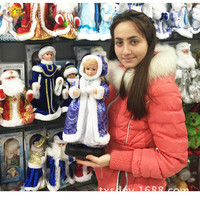 Hot electric Santa Claus Russian Snow Maiden creative gift will sing doll toy personalized gift
