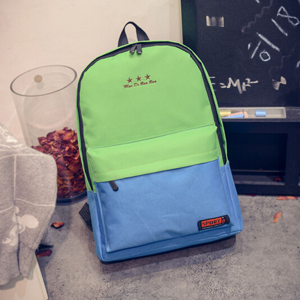 Girls Boys Canvas School Bag Travel Backpack Satchel Women Shoulder Rucksack laptop back ...