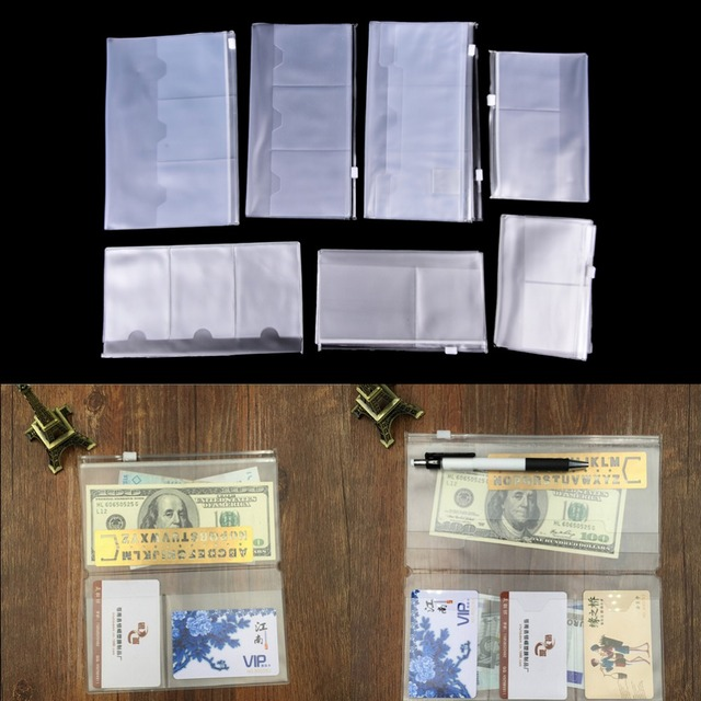 cc2009925a5d Hot Sale Practical PVC Zipper Bag Collection Pocker With Card Holders  Plastic Stationary Filing Products Bags Cases Wholesale