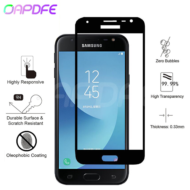 Full Cover Tempered Glass on the For Samsung Galaxy J3 J5 J7 2016 2017 J2 J4 J6 J8 2018 Screen Protective Glass Protective FilmFull Cover Tempered Glass on the For Samsung Galaxy J3 J5 J7 2016 2017 J2 J4 J6 J8 2018 Screen Protective Glass Protective Film