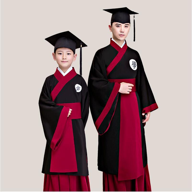 online retailer 65457 81b22 US $73.32 6% di SCONTO|Cinese antica Università Intrattenimento Musiche E  Canzoni Bachelor 's laurea di laurea abito Lungo Robe costume Cinese  vestito ...