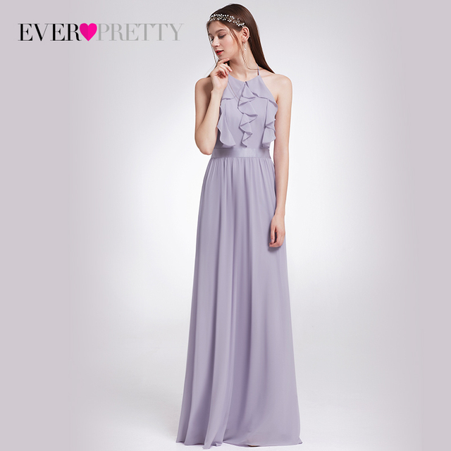ce18ebf6fee0f US $85.7 |Ever Pretty 2018 New Women Sexy Evening Dresses Halter A Line  Sleeveless Ruffles Backless Casual Elegant Evening Party Dress-in Evening  ...