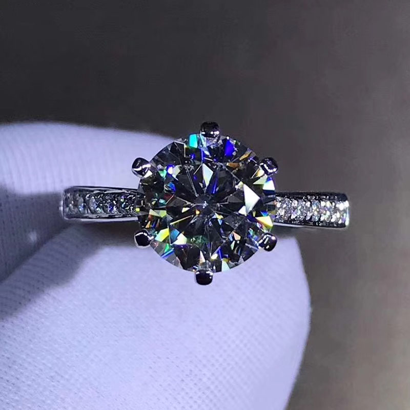 925 sterling silver ring 1ct 2ct 3ct Classic style Moissanite ring Diamond Wedding Party Anniversary jewelry WIth GRA certifica