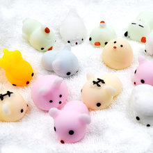 5-50Pcs/Lot Squishy Cat Wipes Antistress Ball Squeeze Toys Mochi Rising Toy Abreact Soft Sticky Squishi Stress Relief Toys Funny(China)