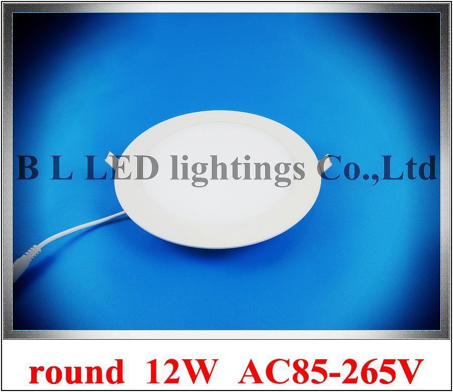 Ultradnne Runde Stil Decke LED Panel Licht GEFHRT Flache Lampe 12 Watt 900lm Hohe Helle