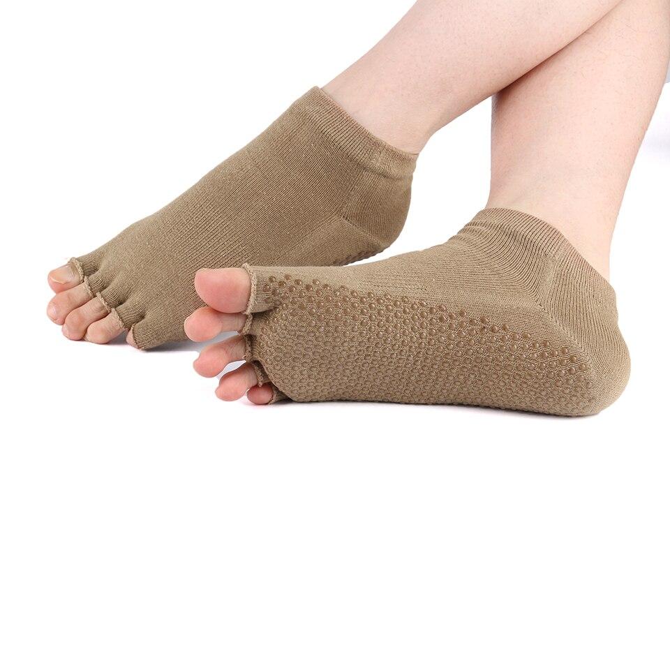 Frauen Yoga Socken Sport Grip Gym Anti-RutschSocken Neue Pilates Massage Socken