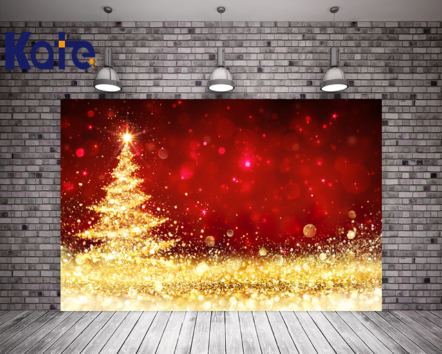 kate christmas background photography backdrops red gold bright backgrounds christmas tree party photocall bodas fondo