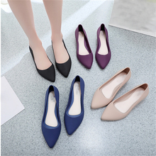 Women Pointed Shallow Mouth Single Shoes Simple Style Lady F