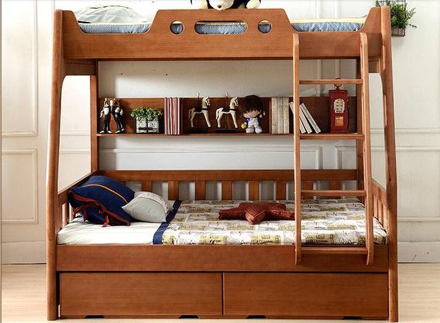 All Solid Wood Bed Cluster Of American Childrenu0027s Double Bed Bunk Bed And  Bed Furniture
