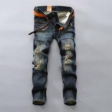 ГОРЯЧИЙ продавать Топ дизайнер известный бренд высококлассные хлопок мужчины джинсы брюки, европейский и Американский стиль джинсы мужчина(China (Mainland))