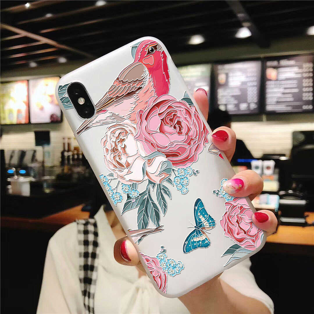 สำหรับ Coque Samsung Galaxy หมายเหตุ 9 8 4 M10 M20 M30 J5 J7 J4 J6 PLUS 2018 J3 J2 prime 2016 2017 Case Soft TPU 3D ดอกไม้บรรเทา
