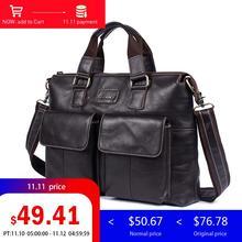 hot deal buy ograff men's bags genuine leather messenger bags crossbody shoulder bag laptops business handbags tote bag design male briefcase