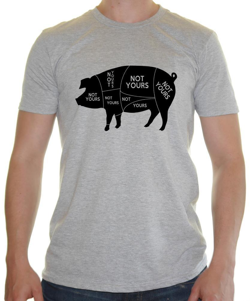 Not Yours -VEGAN - Mens T-Shirt Vegetarian / Vegan NOT YOURS PIG PARTS New  Tee Unisex Funny Tops freeshipping