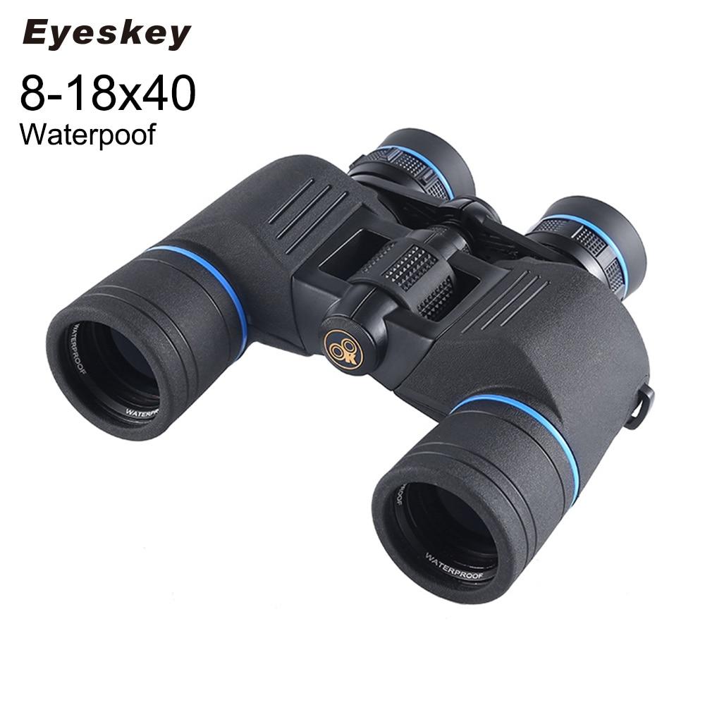 Eyeskey New 8-18x40 Zoom Optical Telescope Binoculars High-power Binoculars for Hunting Camping Hiking Day Telescope Scope EK88 8x zoom telescope lens back case for samsung i9100 black