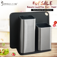 XYj Tactical Household Kitchen Knife Holder Storage Stainless Steel Multifunctional Knife Stand Home Tableware Knife Block New