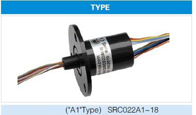 SRC022A1 Conductive Slip Ring Rotatry Joint Connector 18 Channels 18 Circuits Capsule Slipring Hole Slip Rings Diameter 22mm