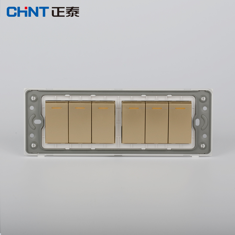 CHINT Lighting Switches 118 Type Switch Panel NEW5D Steel Frame Four ...