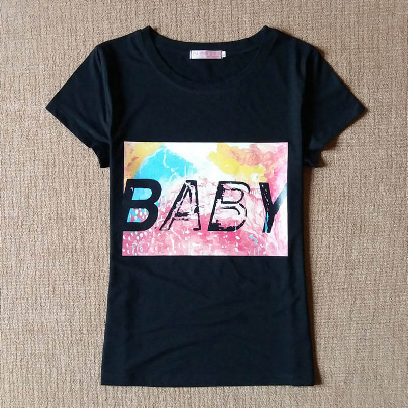 Baby Letter Print Lovers T Shirt Women 39 s Men 39 s Fashion Korean Couple Shirt Casual O Neck Short Sleeve T Shirt For Couple Clothes in T Shirts from Women 39 s Clothing