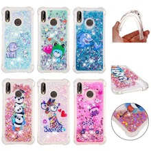 LUCKBUY Dynamic Glitter Liquid Quicksand Silicone TPU Case For Huawei P8 P9 P10 P20 Mate10 Lite Pro Y3 Y5 Y6 P Smart Enjoy 6s