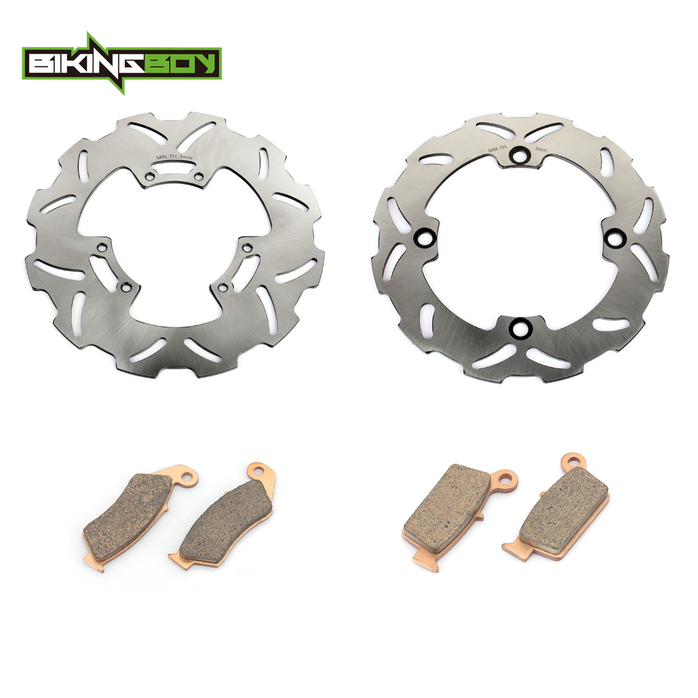 BIKINGBOY Motorcycle Front Rear Brake Disk Disc Rotor Pad for HONDA CR125R CR250R CR500R CR 125 250 500 R 95 96 97 98 99 00 2001 94 95 96 97 98 99 00 01 02 03 04 05 06 new 300mm front 280mm rear brake discs disks rotor fit for kawasaki gtr 1000 zg1000