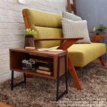 Japanese-style racks Furniture Storage bookcase laptop table wrought iron wood desk simple bookshelf