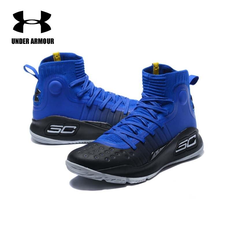 Under Armour hommes Curry 4 basket chaussures chaussette baskets entraînement bottes Zapatillas hombre deportiva tenis basket haute qualité
