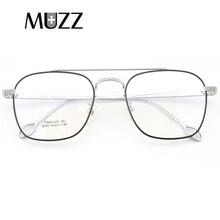 Pure Titanium Bril Brillen Frame Mannen Vintage Merk Oversize Recept Bril Hoge Kwaliteit Punten Luchtvaart Eyewear