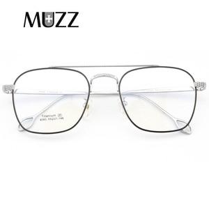 Image 1 - แว่นตาPure Titaniumกรอบแว่นตาผู้ชายVintage Oversizeแว่นตาตามใบสั่งแพทย์คุณภาพสูงจุดการบินแว่นตา
