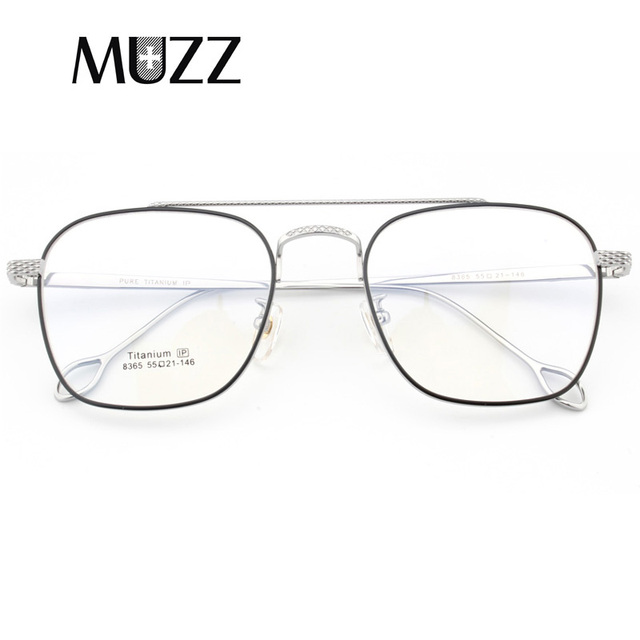 แว่นตาPure Titaniumกรอบแว่นตาผู้ชายVintage Oversizeแว่นตาตามใบสั่งแพทย์คุณภาพสูงจุดการบินแว่นตา