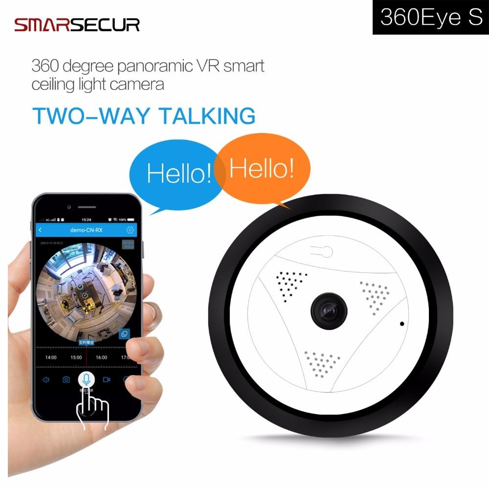 Smarsecur smart 360 caméra cctv 1080 P IP Caméra thermomètre à lait Fisheye Vidéo caméras de surveillance