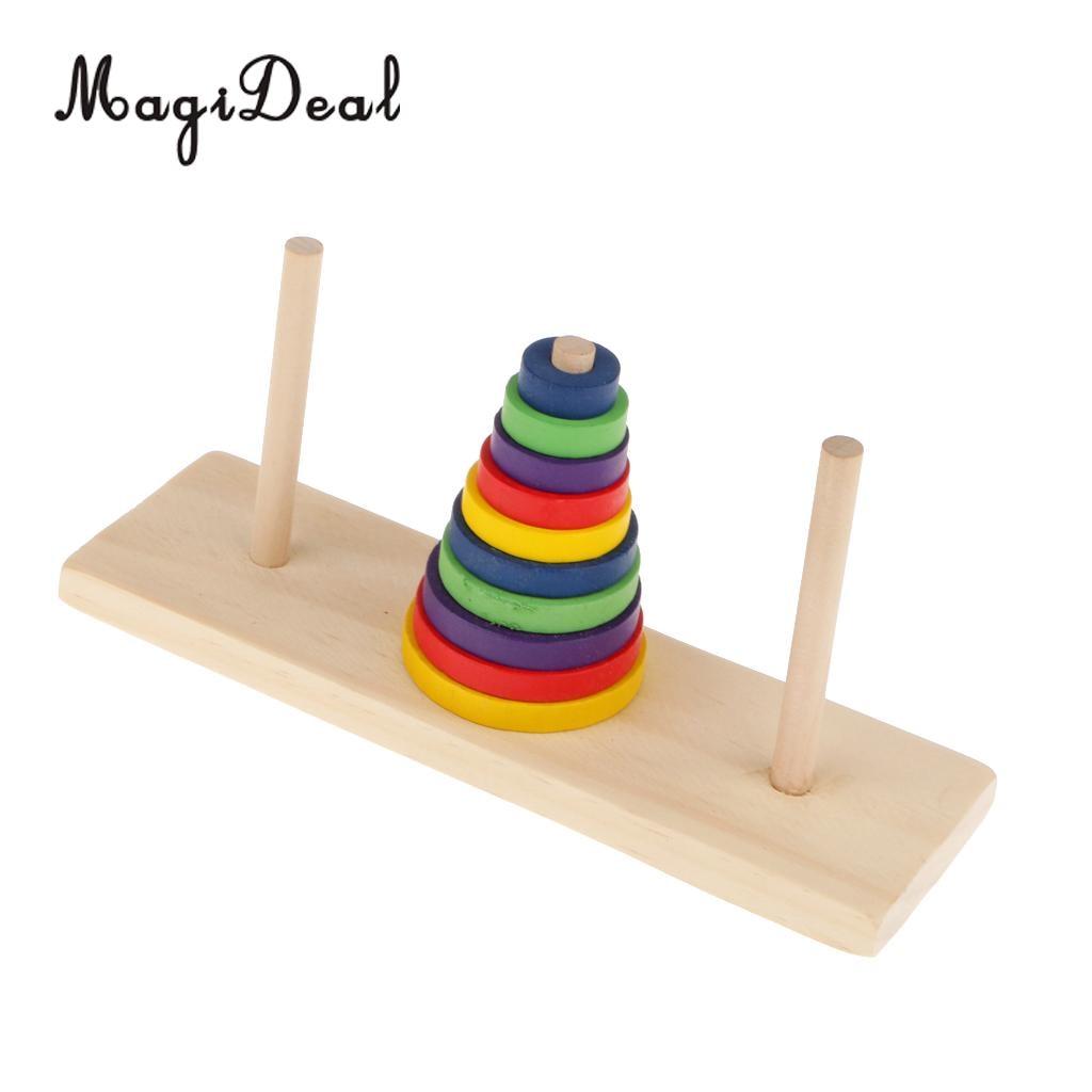MagiDeal 1 шт. традиционные индийские деревянный башни ханоя игрушка для детей раннего образования Семья дома играть дети математические голов... ...