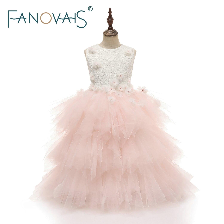 Light Pink Cake Dress For Flower Girl Dresses Princess Birthday