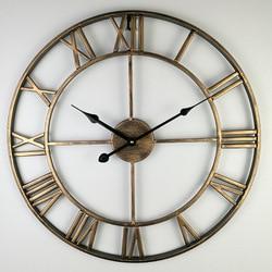 40-80cm skandynawski Retro kute żelazo zegar ścienny rzymski nowoczesny Design salon Cafe cichy dekoracyjny zegar kwarcowy