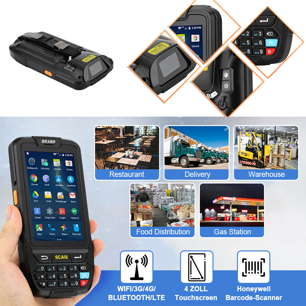 Image 5 - ISSYZONEPOS 4G Handheld PDA Android 7.0 POS Terminal Touch Screen 2D Barcode Scanner Wireless Wifi Bluetooth GPS Barcode Reader-in Scanners from Computer & Office