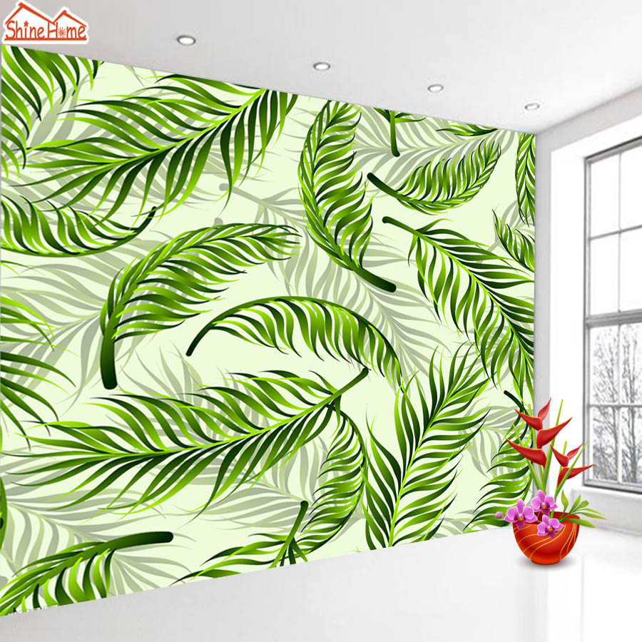 ShineHome-Fantasy Palm Leaf Wallpaper 3d Photo Wallpaper Rolls for Walls 3 d Livingroom Wallpapers Mural Roll Paper Background shinehome nature letter art wood board 3d photo wallpaper rolls for walls 3 d livingroom wallpapers mural roll paper background