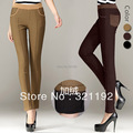 WomanFemale plus size autumn winter plus velvet spliced leggings pants slim pencil warm  trousers   C506 6156#