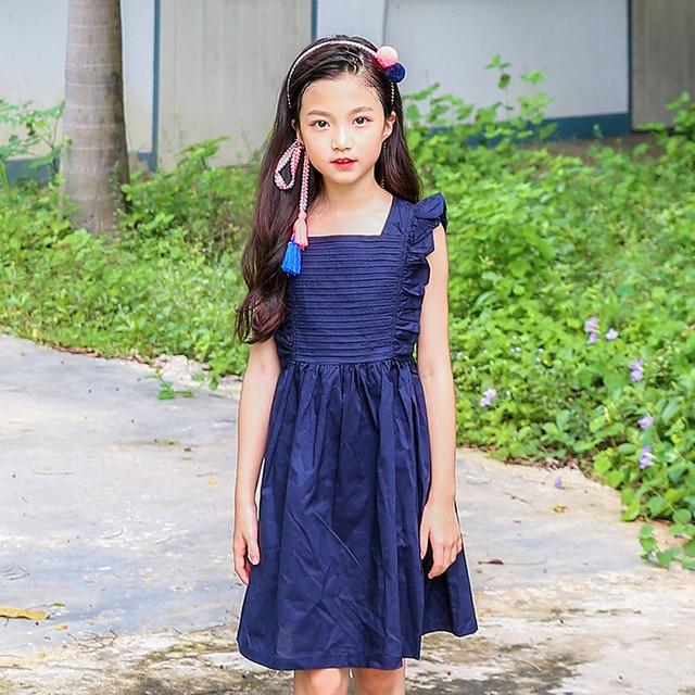 b990562589fb1 القطن الطفل اللباس الأميرة فتاة في سن المراهقة الملابس الفتيات اللباس الصيف  حجم 8 10 12