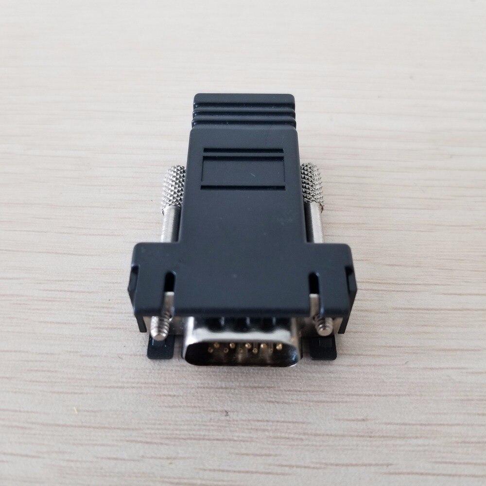 En gros 50 pcs/lot 15PIN VGA à RJ45 connecteur nouveau VGA Extender mâle à Lan Cat5 Cat5e RJ45 Ethernet femelle adaptateur