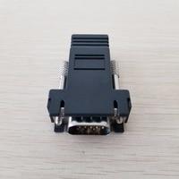 Wholesale 50pcs/lot 15PIN VGA to RJ45 connector New VGA Extender Male To Lan Cat5 Cat5e RJ45 Ethernet Female Adapter