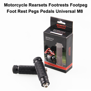 Image 5 - 1 Pair Black Foot Pegs Motorcycle Refitting Foot Rests Pedal Billet Passenger for Harley Touring Sportster Rear Foot Pegs
